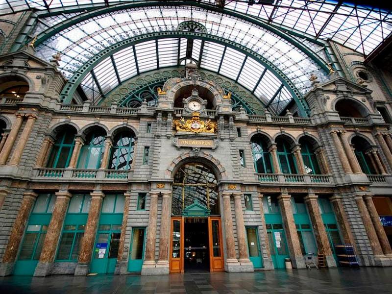 La estación central de Bélgica