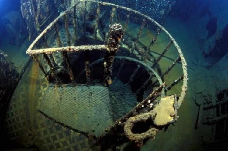 Sunken Ships Britannic Stair
