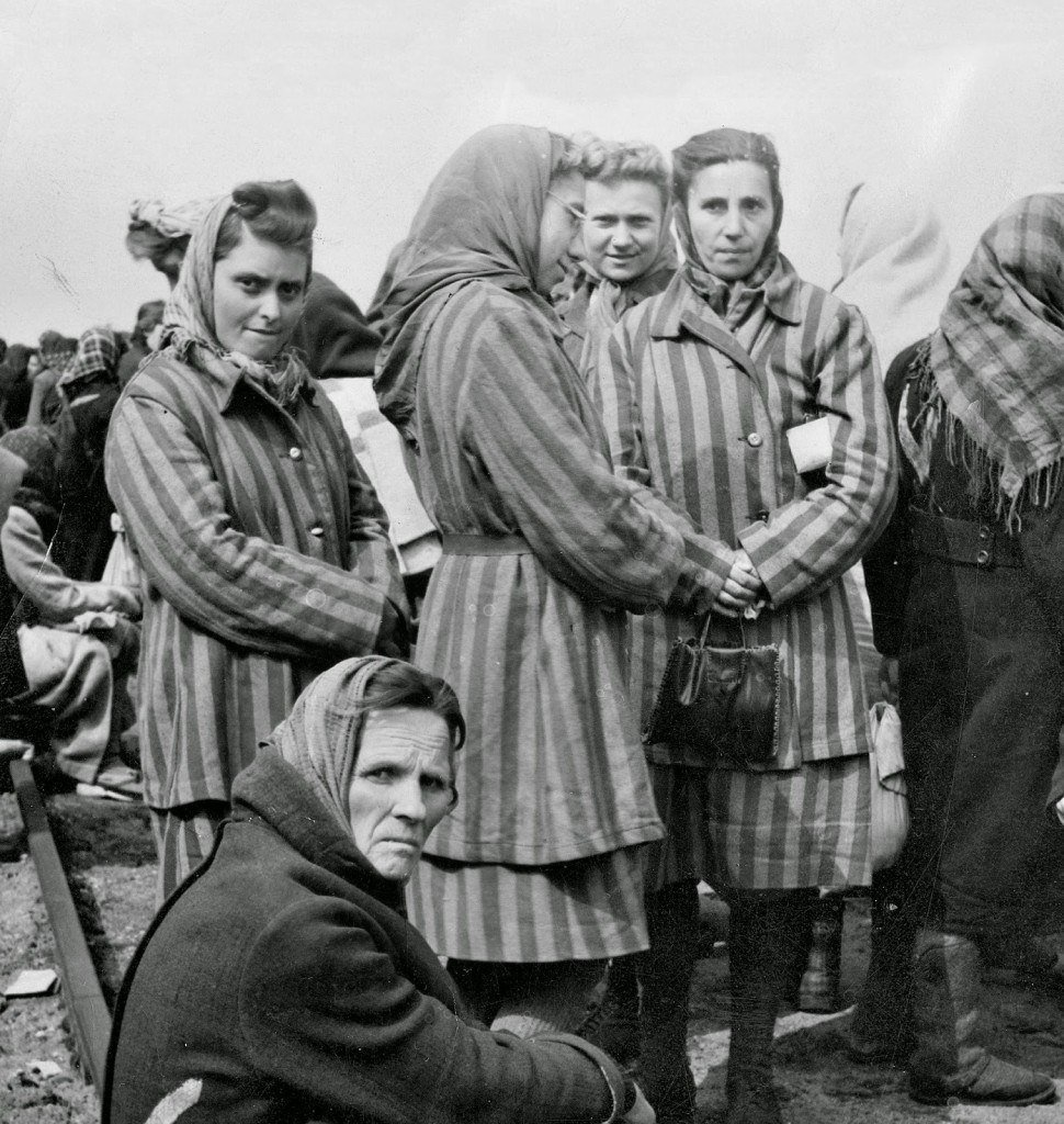 Women's concentration camp victims, rescued.