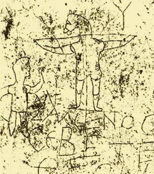 White Jesus Mocking Graffiti