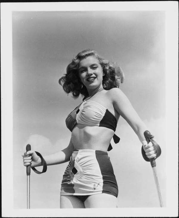 Norma Jeane Sand Skiing