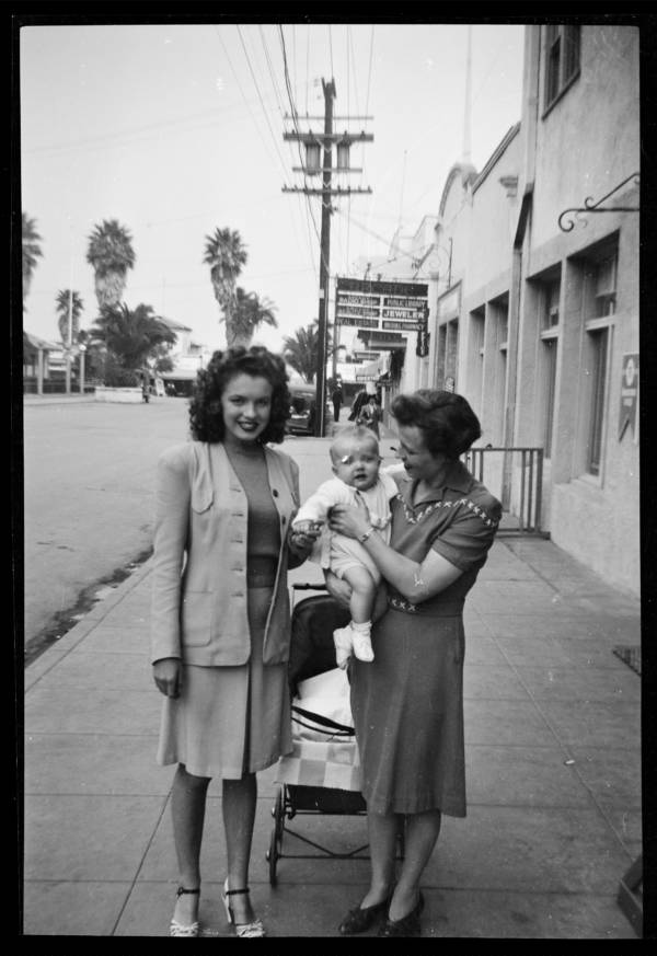 Norma Jeane With Baby