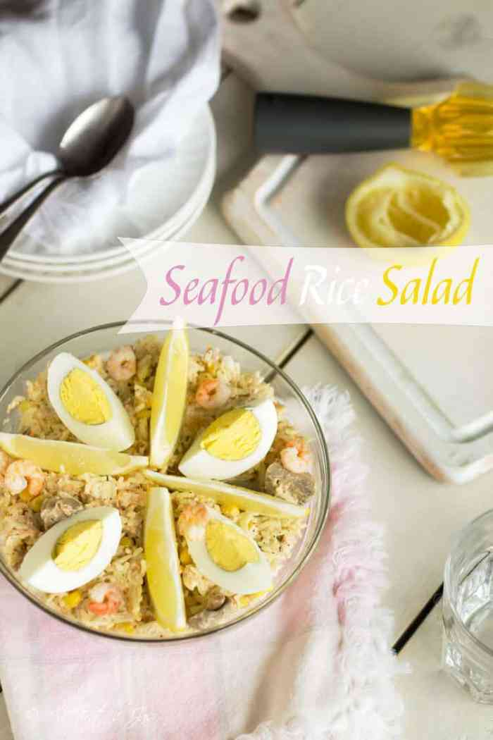 Seafood Rice Salad - All that's Jas