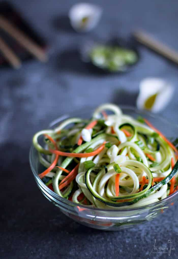 quick and easy Asian zucchini salad - All that's Jas