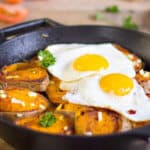 simplifying German food - potatoes and eggs