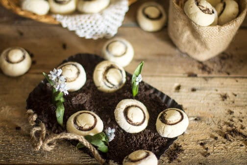 cookies shaped like mushrooms