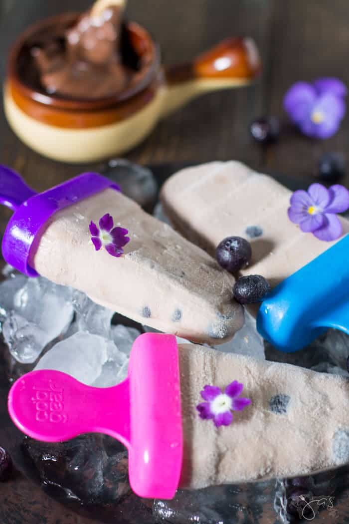 Nutella Blueberry Popsicles