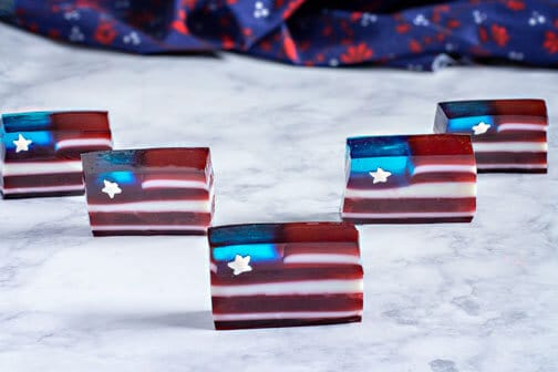 Red White and Blue Jello Flag | All that's Jas