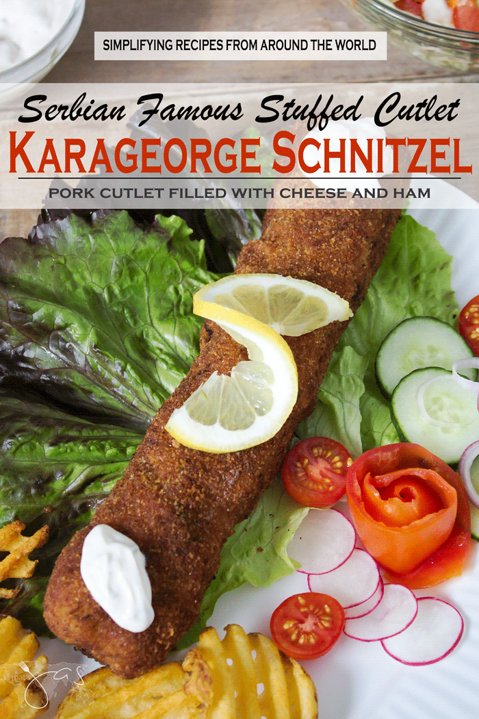 Karageorge schnitzel also known as maiden's dream is a dish that made Serbia famous and is made with pork or veal cutlet stuffed with cheese and fried.