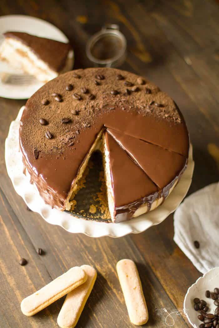 no bake cheesecake with tiramisu layer is the best cake fusion