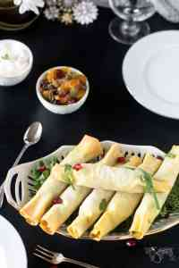 Spicy appetizers - fillo samosa