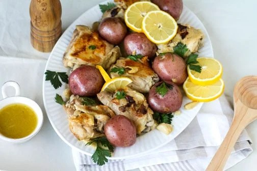 Instant Pot & Slow Cooker Garlic Lemon Chicken | All that's Jas