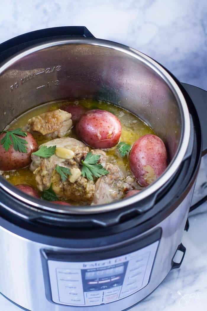 Instant Pot Italian Garlic Lemon Chicken