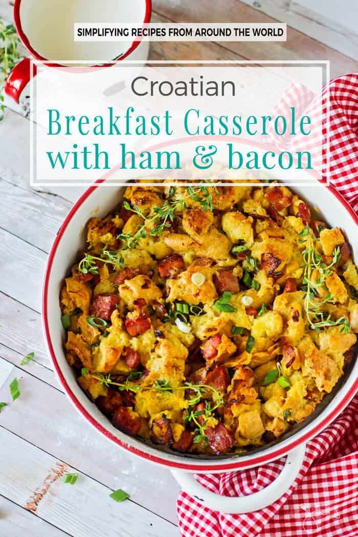 The ham and crispy bacon make this Easter breakfast casserole a pure comfort dish you can enjoy any day.