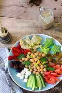 Lebanese chickpea salad with smoky tahini dressing recipe