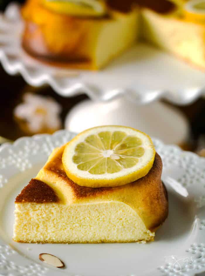 This slice of lemon cheesecake is decadent and beautiful too.