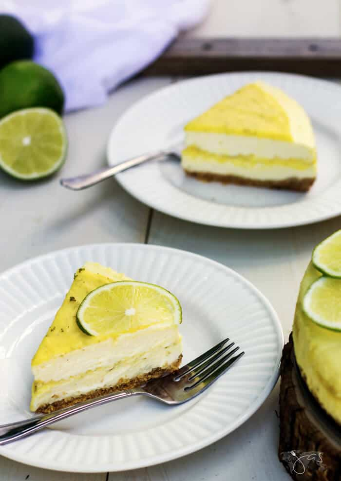 ribbon cheesecake with lime curd
