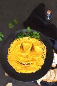 Halloween Pumpkin Hummus Dip