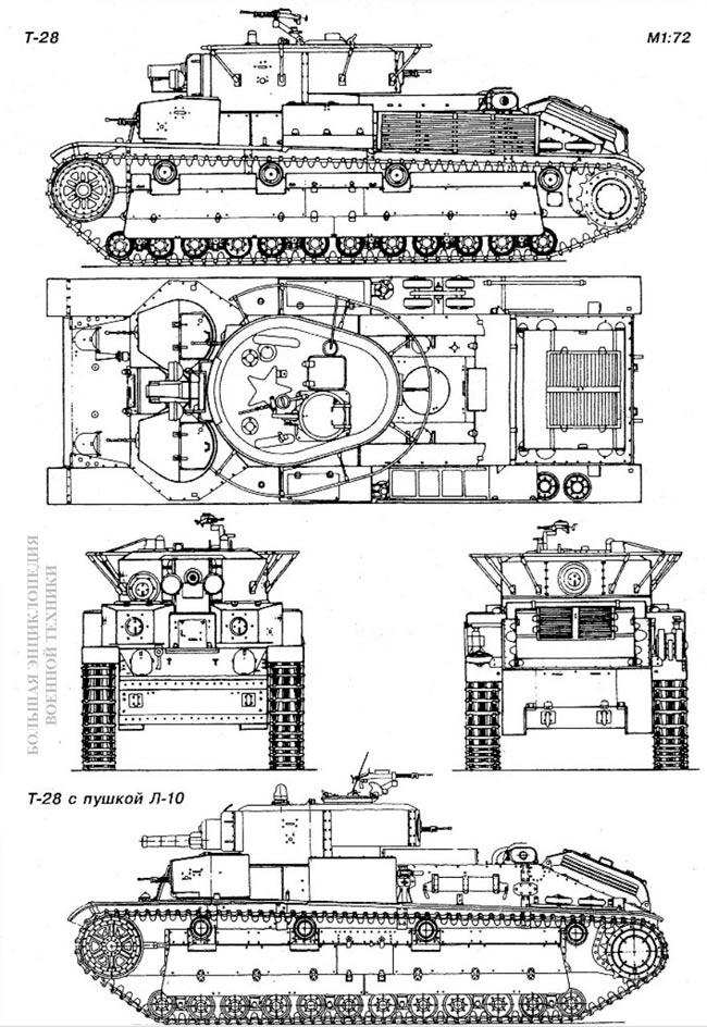 Общий вид танка Т-28