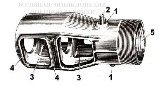 Дульный тормоз пушки Д-25Т
