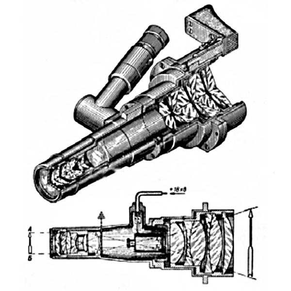 Конструкция ночного прибора механика-водителя БВН и его оптическая схема
