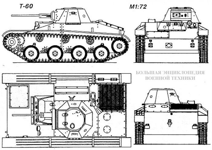 Общий вид легкого танка Т-60