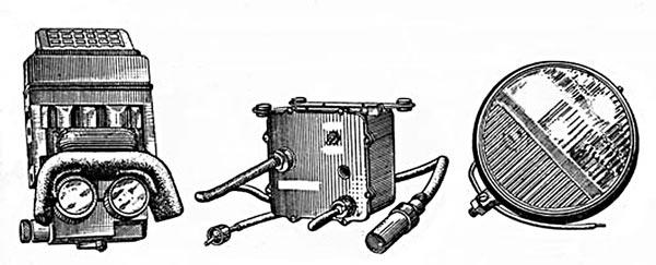 Танковый прибор ночного видения механика-водителя ТВН-2 в комплекте с блоком питания БТ-3-26 и фарой ФГ-10 (ФГ-100)