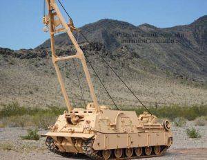 Бронированная ремонтно-эвакуационная машина БРЭМ M88 в действии