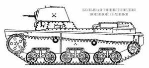 Легкий плавающий танк ТМ, вид сбоку