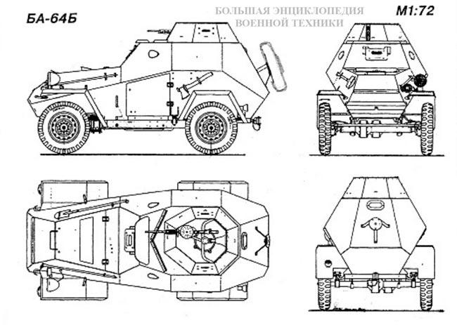 Схема бронеавтомобиля БА-20