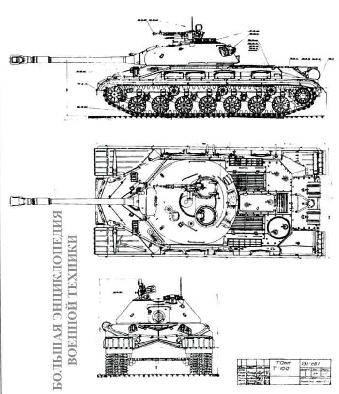 Общий вид танка Т-10 А. Объект 731. 1955 г.