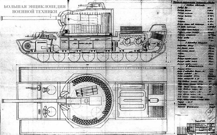 Проект танка КВ-4 инженера М. Цейца.
