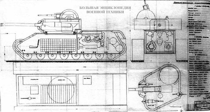 Проект танка КВ-4 инженера С. Федоренко