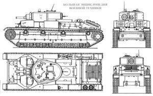 Схема танка Т-28