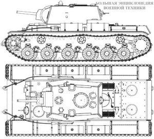 Чертеж танка КВ-8