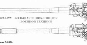 122-мм танковые пушки Д-25Т, Д-25ТА, Д-25ТС
