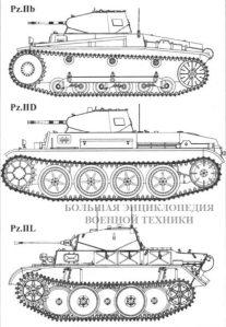 Немецкие легкие танки Pz. II b, Pz. II D, Pz. II L