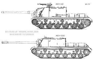 Сравнение ИСУ-122 и ИСУ-122С