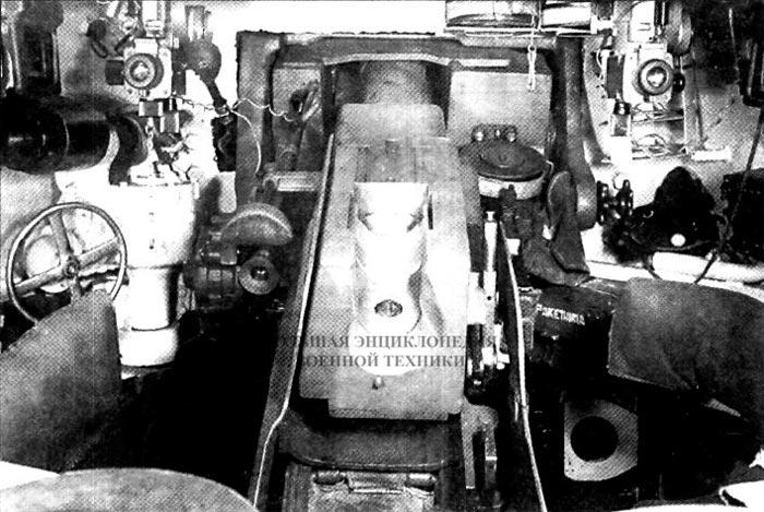 Интерьер боевого отделения танка КВ-1