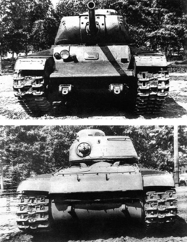 Первый экземпляр танка КВ-85 во дворе завода № 100