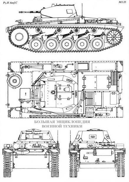 Чертеж танка Pz.II Ausf.C
