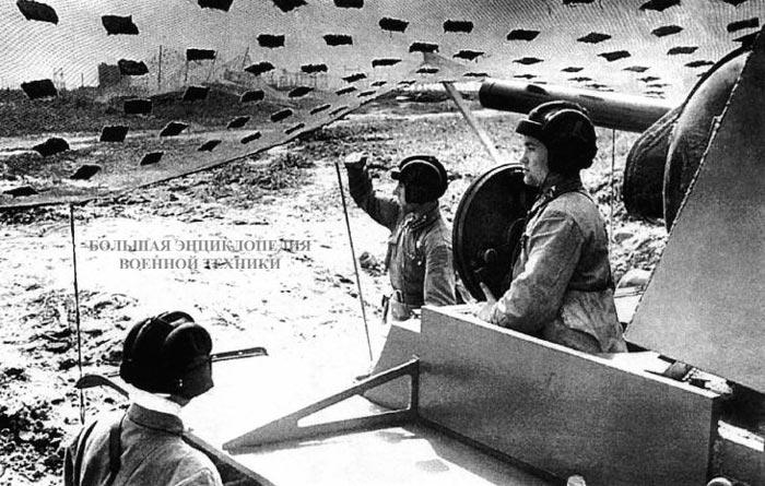 Экипаж танка КВ на боевой позиции