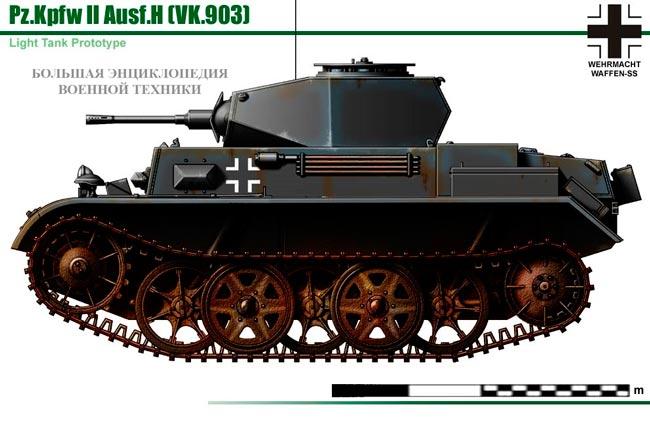 Танк Pz.II Ausf.H