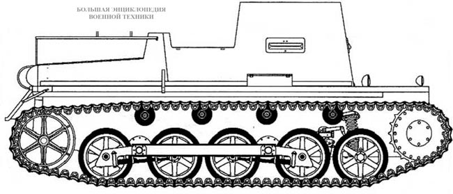 Pz.l Ausf.B, переделанный в санитарную машину непосредственно в войсках