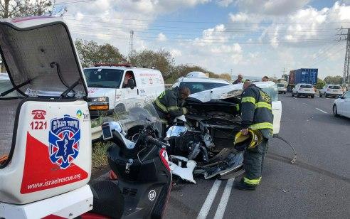 בן 25 נפצע בינוני בתאונה עצמית בסמוך לצומת הצ'ק פוסט