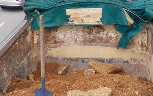 יחידת דוד במנהל האזרחי אכפה משאית שניסתה להעביר פסולת בניין באופן בלתי חוקי