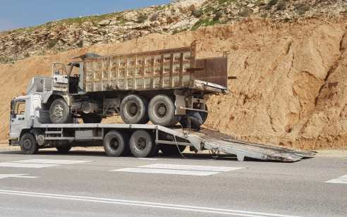 בפעילות אכיפה ממוקדת נגד כלי רכב כבדים נתפסו 15 נהגי משאיות עם חריגה במשקל וליקויים