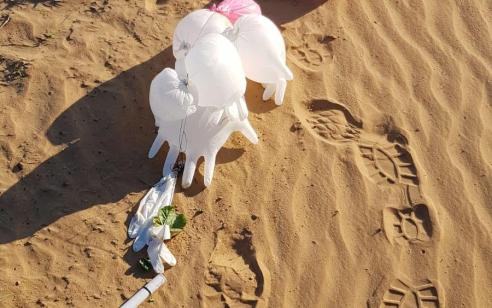 טרור הבלונים: חפץ חשוד המחובר לצרור בלונים אותר בשטח פתוח באשכול