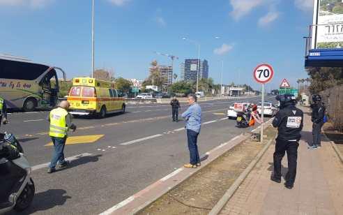 הולך רגל נהרג מפגיעת אוטובוס בסמוך למחלף השבעה