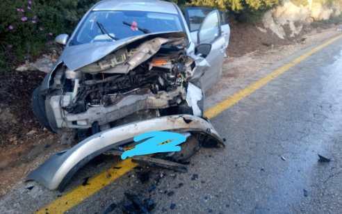2 נשים נהרגו בתאונה קטלנית בין 2 כלי רכב בכביש 7955 מיודפת להררית